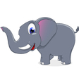 cute elephant standing vector image