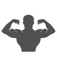 front double biceps pose vector image
