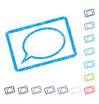 hint cloud icon rubber watermark vector image