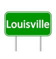 Louisville green road sign vector image
