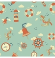 maritime pattern vector image
