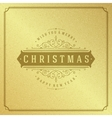 Merry Christmas Typography Greeting Card Design vector image