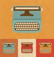 Retro Typewriter vector image