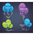 collection of colorful balloon for your tex vector image vector image
