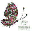 doodle zentangl drawing holiday card tenderness vector image