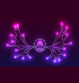 contour neon of moose antlers with sparks vector image