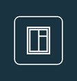 glass frame outline symbol premium quality vector image