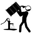 Water contamination icon vector image