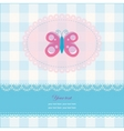 greeting card with copy space and butterfly vector image vector image