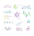 Thin line chart elements for infographic Outline vector image vector image