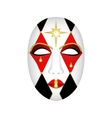 carnival mask on a white background vector image