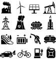 Energy icons black vector image