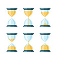 hourglass modern icons set vector image