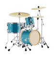 realistic drum kit vector image