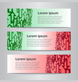 set of design banner template vector image