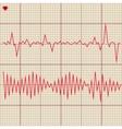 Set of various cardiogram design elements vector image
