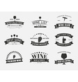 Set of wine logos with ribbons vector image