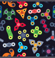 spinners seamless pattern vector image