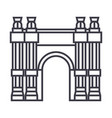 triumphal arch line icon sign vector image