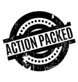 action packed rubber stamp vector image vector image