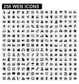 256 web icons vector image