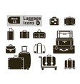 luggage icons vector image vector image