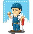 Cartoon of Technician or Repairman vector image vector image