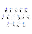 Black Friday of Photo Frames with Forget Me Not vector image