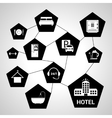 Hotel services concept vector image vector image