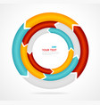 Abstract arrow banner for text Circle diagram vector image