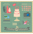 Set of vintage wedding fashion style and travel vector image