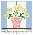 Spring Brings Sunshine vector image