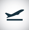 airplane up icon vector image