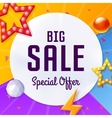 big sale cover with elements on colorful vector image