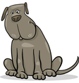 Funny big gray dog cartoon vector image