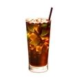 Long island ice tea cocktail realistic vector image