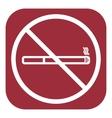 No smoke icon Stop smoking symbol vector image