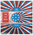 Set of three banners in the US national flag vector image