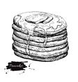 vintage pancake drawing Hand drawn vector image