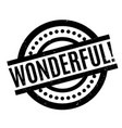 Wonderful rubber stamp vector image