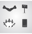 Commerce Items and Icons vector image