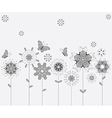 Spring meadow flowers and butterflies for your vector image vector image
