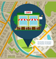 cafe location map vector image