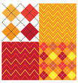 Argyle Orange Set vector image vector image