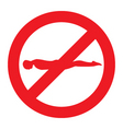No planking sign vector image