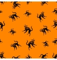 Halloween icons seamless of cat vector image