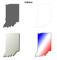 Indiana outline map set vector image