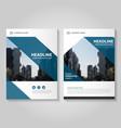Blue annual report Leaflet Brochure Flyer set vector image