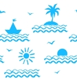 Seaside vacation seamless pattern vector image vector image