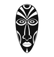 african mask icon simple style vector image